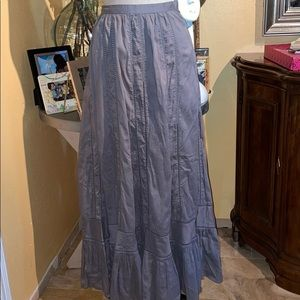 Topshop long boho gray skirt